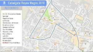 Itinerario de la Cabalgata de Bollullos del Condado.