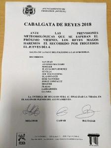 Trigueros también adelanta su Cabalgata.