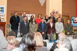 Foto de familia de la entrega del premio de la Cátedra Aguas de Huelva.