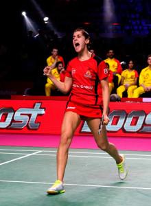 Carolina Marín derrotó sin problemas a la escocesa Kirsty Gilmour. / Foto: @PBLIndiaLive.