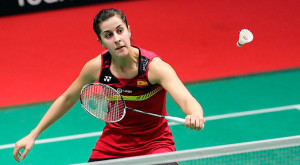 Carolina resolvió por la vía rápida su debut en Indonesia ante Dinar Dyah Ayustine. / Foto: Badminton Photo.