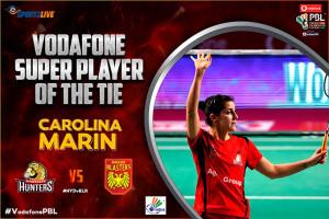 Además de ganar, Carolina de nuevo se llevó el premio a la 'Superjugadora' del partido. / Foto: @PBLIndiaLive.