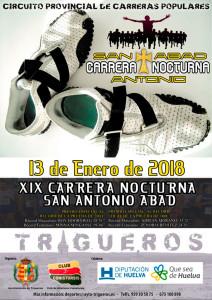 Cartel de la prueba atlética que se celebrará este próximo sábado en Trigueros.