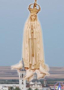 Cartel de la Virgen de Fátima de La Palma del Condado.