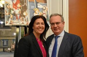 ) Inés Caro junto al Presidente de la Sociedad Francesa de Beneficiencia. Autor de las fotos: Juan Luis Rodríguez.
