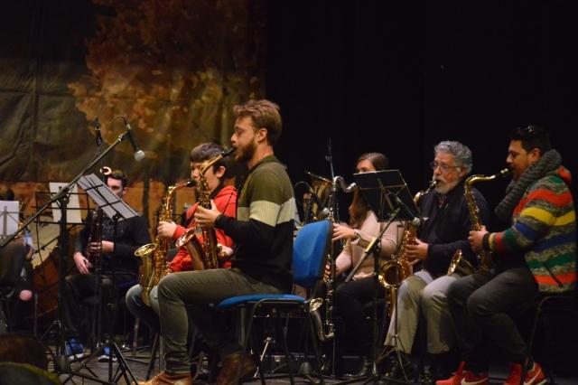 La Banda de Música de Punta Umbría graba una pieza de pasodoble para la BSO de una película española