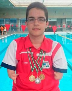 David Sánchez, nadador del CODA, sigue cosechando éxitos.