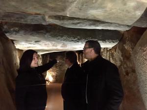 Dolmen de Soto trigueros visita ignacio caraballo