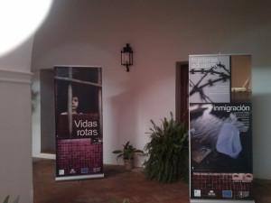 Exposición contra la trata de personas.