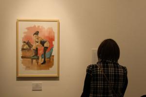 Uno de los dibujos de la exposición.