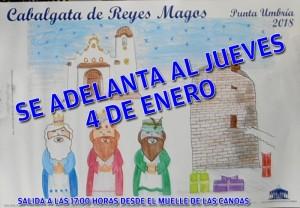 Los tres Reyes Magos adelantarán su llegada a Punta Umbría.