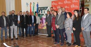 Algunos de los alcaldes de las poblaciones por donde pasa la Huelva Extrema del 14 de abril.