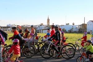 Un momento de la II Ciclocabalgata Solidaria.