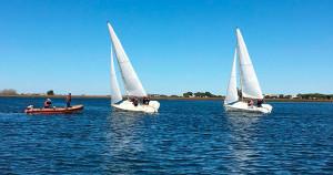 Las embarcaciones se midieron en la modalidad de Round Robin, todos contra todos, en el arranque de grupo B.