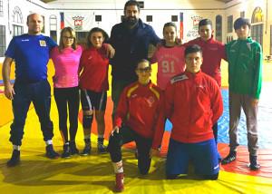 Representantes del Club de Lucha El Campeón que esperan hacer un buen papel en el Campeonato de Andalucía. / Foto: @luchaelcampeon.