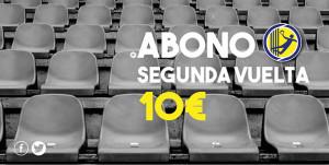 Cartel de la campaña especial de socios del Pedro Alonso Niño para la segunda vuelta.
