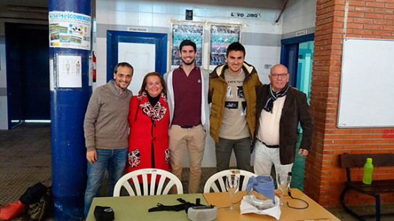 Nacho Monsalve y Jonathan Vila visitaron el IES Saltés de Punta Umbría