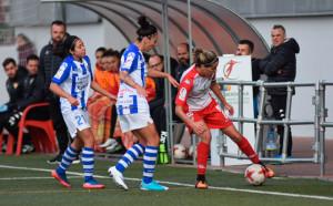 El Sporting mantiene la ventaja de cuatro puntos sobre la zona de descenso, que marca precisamente el Santa Teresa. / Foto: www.lfp.es.