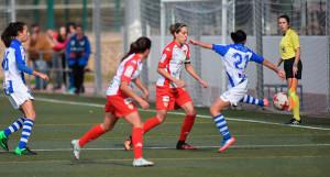 El Sporting dejó buenas sensaciones en el partido anterior en Badajoz, y espera puntuar esta semana en Sevilla. / Foto: www.lfp.es.