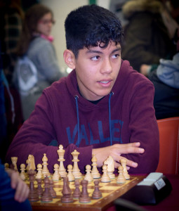Fabricio Cabrera estuvo en el tablero 1.