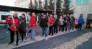 Participantes en el curso de iniciación al tiro con arco auspiciado por el acuerdo UHU-Club Asirio.