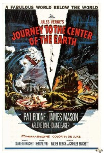 Cartel de la película Viaje al centro de la Tierra.