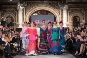 Algunas de las modelos en Sevilla. / Foto: We Love Flamenco.