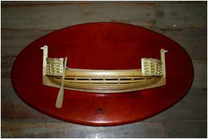 Maqueta de una nave de la Edad Antigua.