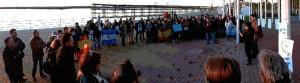 Homenaje en el Paseo de la Ría en la ciudad de Huelva.