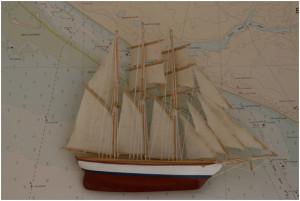 Una de las más de mil maquetas que deberían figurar en el futuro Museo naval que exige la Huelva marinera.