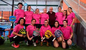 Formación del equipo femenino de La Volea, que jugará en la Primera Categoría.