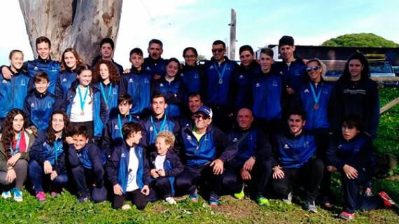 El Real Club Marítimo de Huelva se trae un botín de 10 medallas del Campeonato de Andalucía de PiraguaCross