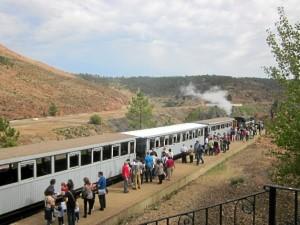 Más de 90.000 personas visitaron el Parque Minero de Riotinto en 2017.