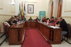 Momento de la sesión extraordinaria del pleno de la Corporación Municipal de San Juan del Puerto celebrado anoche.