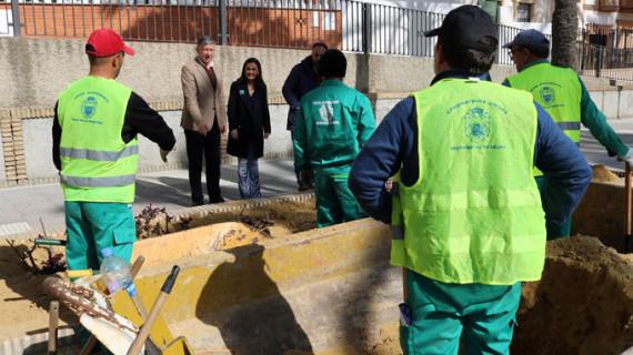 Las obras del PROFEA en Palos de la Frontera dan trabajo a 77 desempleados