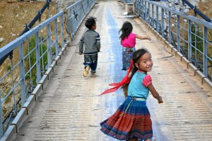 En Sapa, pueblo en el norte de Vietnam, donde nunca pierden su sonrisa.