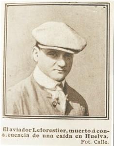 Revista 'Blanco y Negro'. El aviador Leforestier.
