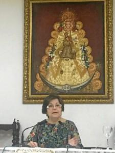 Paqui Durán, pregonera de la Semana Santa de Almonte.