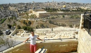 El onubense, en Jerusalén.