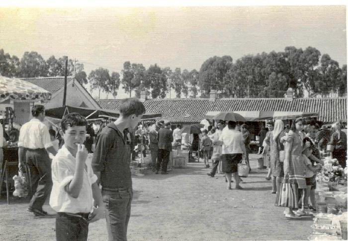 Mercado mensual de La Zarza en la década de los sesenta