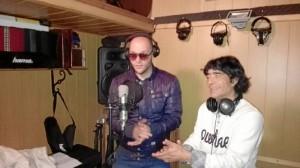 Adrián Cobos, junto a 'Tijeritas'.