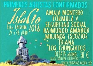 Primeros artistas confirmados del IslaGo 2018.