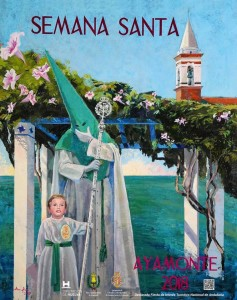 Cartel de la Semana Santa de Ayamonte. / Foto: Ana Feu (Facebook).