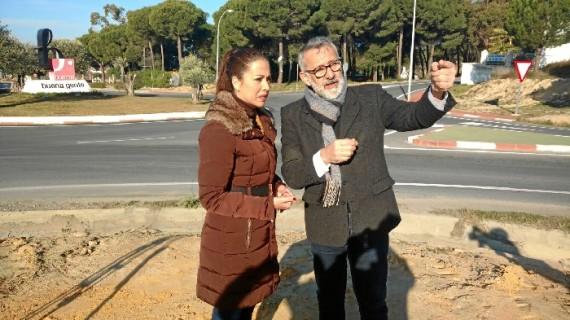 Mejoras en el acceso a la entrada a Bonares en la carretera A-484