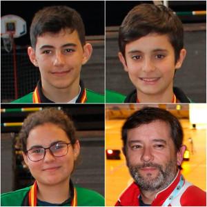 Roberto Bejarano, Agustín Rodríguez, Rocío González y el  entrenador, Agustín Rodríguez, participarán en la próxima concentración de la Real Federación Española de Tiro con Arco.