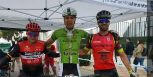 Podio masculino de la VII Doñana Natural. / Foto: andaluciaciclismo.com.