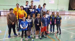 Foto de familia de los ganadores en la prueba celebrada en el Diego Lobato.