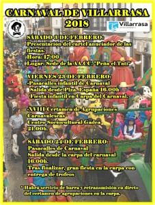 Programación del Carnaval de Villarrasa.