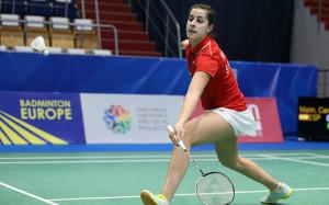 Carolina Marín derrotó con facilidad a Agnes Korosi, en el primer partido del España-Hungría. / Foto: Badminton Photo.