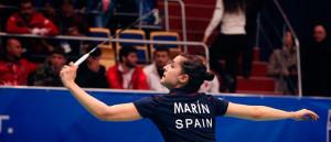 Carolina Marín, con su triunfo en el primer partido, abrió la victoria de España ante Turquía. / Foto: Badminton Photo.